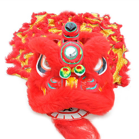 lion dance costume chinese lion costume red gold